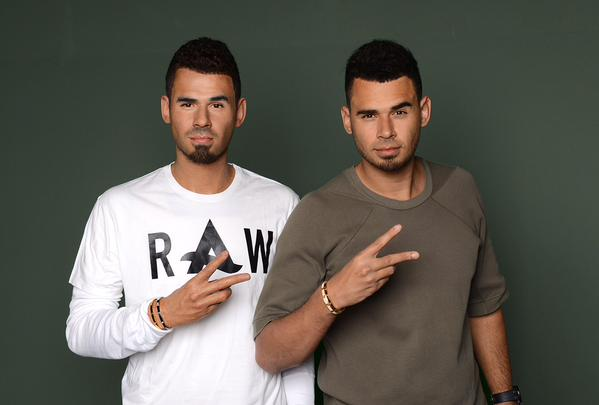 Afrojack (right) with his wax figure (left)