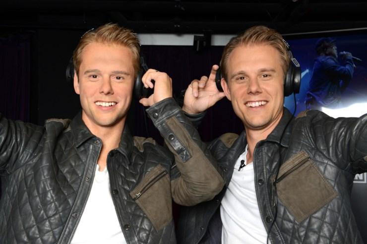 Armin van Buuren (right) with his wax figure (left)