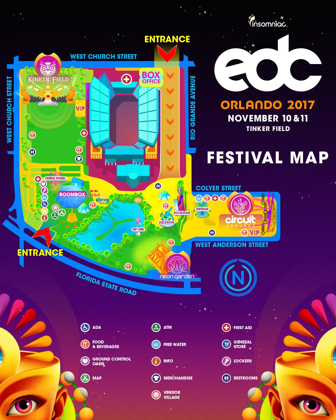 Insomniac Announces New Improved EDC Orlando Festival - Edc las vegas map 2016