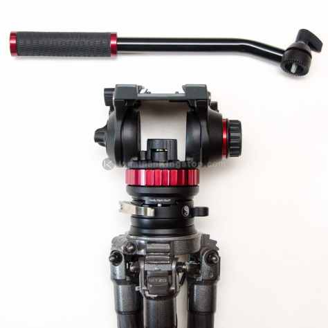 Gitzo series 3 mountaineer tripod with the Really Right Stuff TA-3-LC-HK: Series 3 Leveling Base with Clamp and Hook.  The Really Right Stuff TH-DVTL-55: Round Dovetail Plate is mounted to the bottom of my Manfrotto 502 Flat Base fluid head.