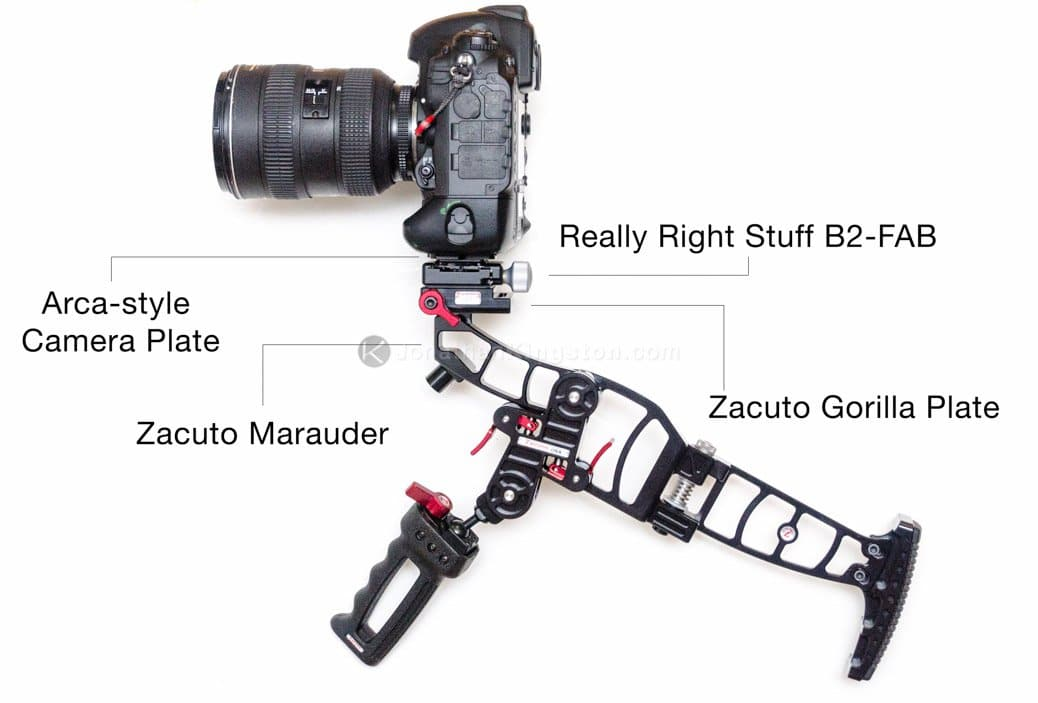 Use Zacuto, Manfrotto and Arca-style heads without changing your camera's base plate