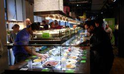 Vegetarian buffett at Hiltl restaurant, Zurich, Switzerland