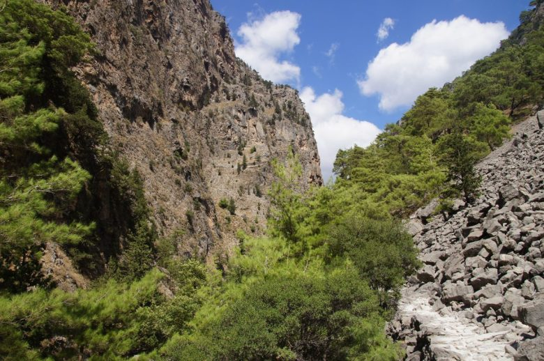 Vegan travel in the Samaria Gorge, Crete