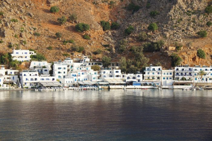 Vegan travel in Loutro, Crete