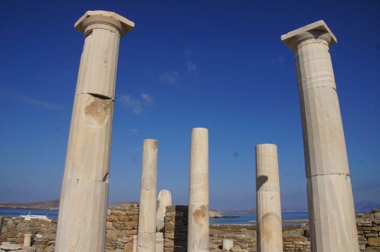 Ancient Delos near Mykonos, Greece