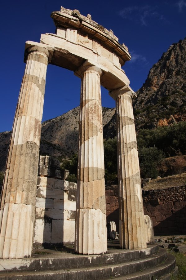 The ancient site of Delphi, Greece