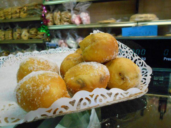 Vegan doughnut holes in Burano, Venice, Italy