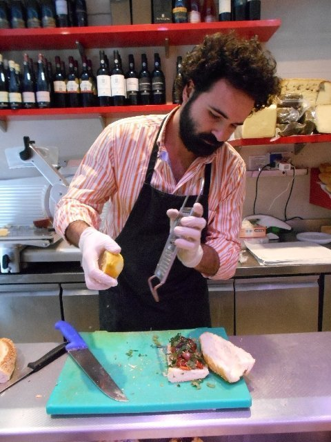 Sicilian sandwich artist