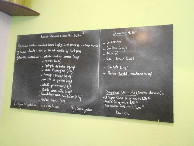 Sunday brunch menu at La Belle Verte