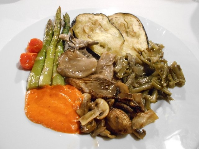 Verduras al carbón - grilled vegetables
