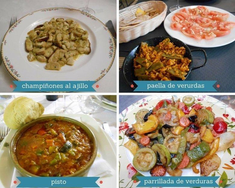 Vegan main dishes in Spain