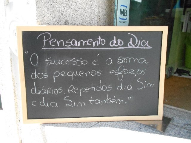 Thought of the day at Jardim do Chá