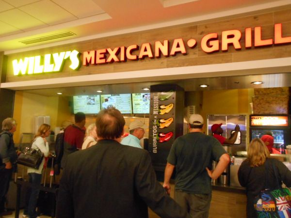 Willy's Mexicana Grill - vegan food in the Atlanta Airport