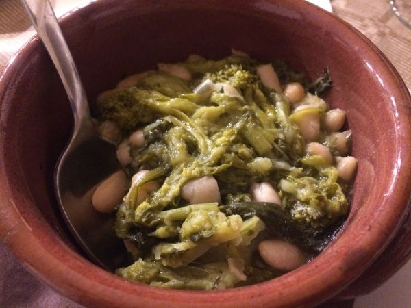 Fagioli e cime di rapa alla barese - vegan Italy