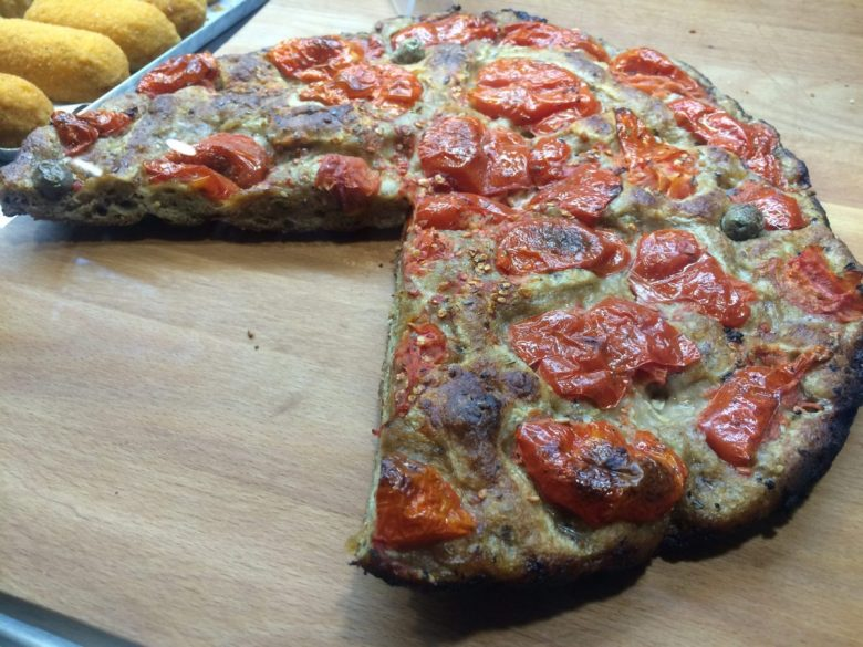 Focaccia - vegan street food in Italy