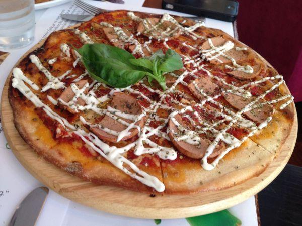 Vegan pizza -  RoseBud Café Athens