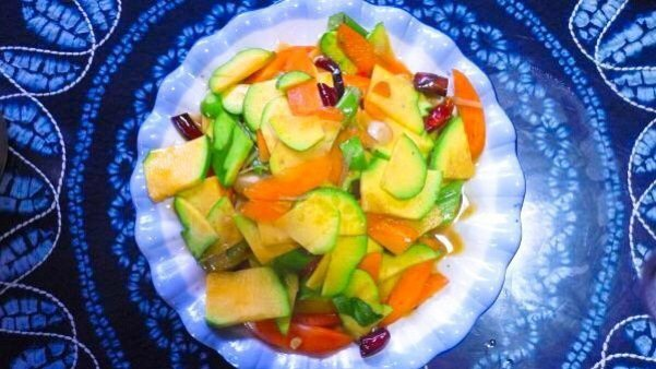 Winter squash with carrot, ginger and garlic - Living The China Study