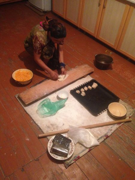 Uzbek dumplings (manti) - how to be vegan on the Mongol Rally