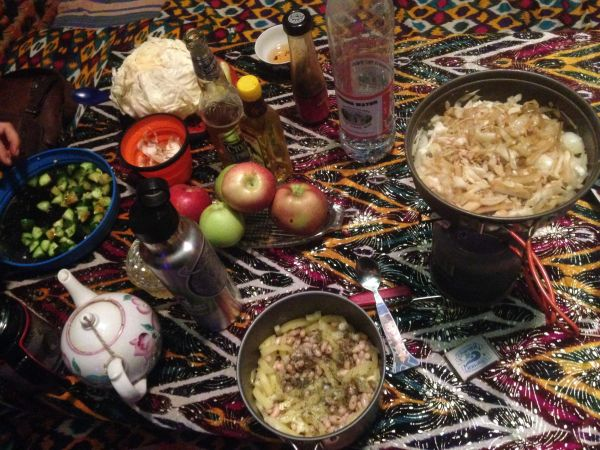 Camp stove cooking - how to be vegan on the Mongol Rally