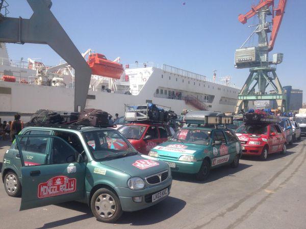 Turkmenistan ferry - how to be vegan in Turkmenistan
