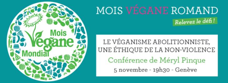 Conference Meryl Pinque - World Vegan Month Switzerland