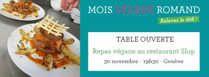 Closing dinner at Slup - World Vegan Month Geneva