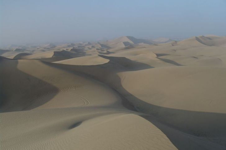 Sand dunes of Huacachina - vegan in Peru
