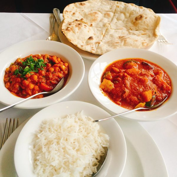 Indian food in Hexham - vegan hike along Hadrian's Wall