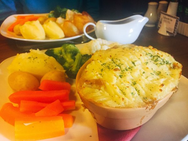 Cottage pie - vegan hike along Hadrian's Wall