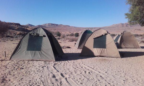 Tents - tour of Namibia
