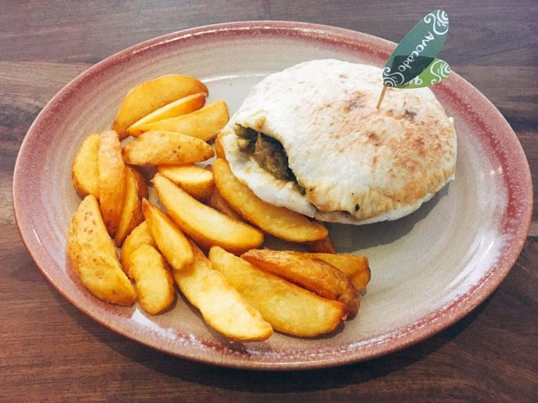 Veggie Avo & Pickled Red Onion Pita from Nando's - vegan African food