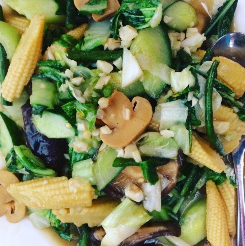 Stir-fried veggies at one of the best restaurants in Fiji - Nadi