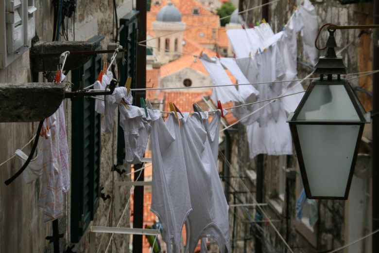 Laundry drying in the Old Town of Dubrovnik