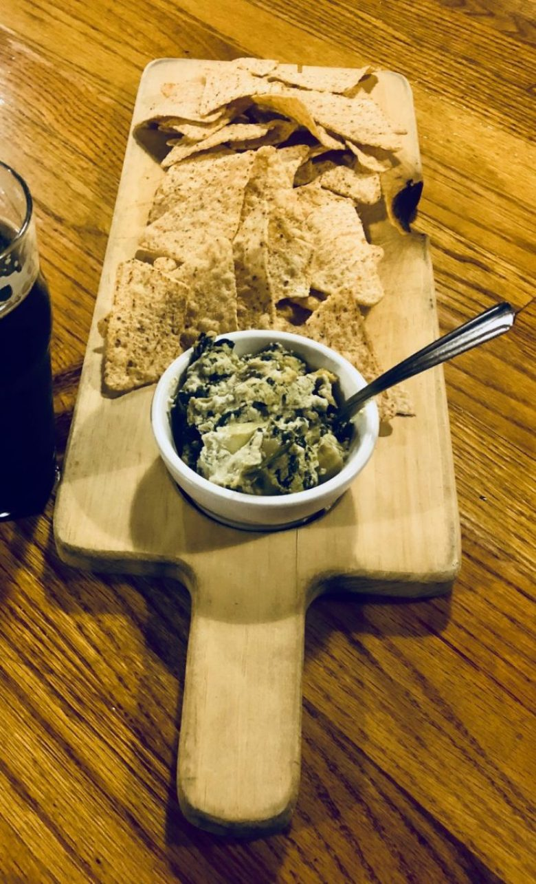 Spinach and artichoke dip at Mitten Brewing | Grand Rapids restaurants