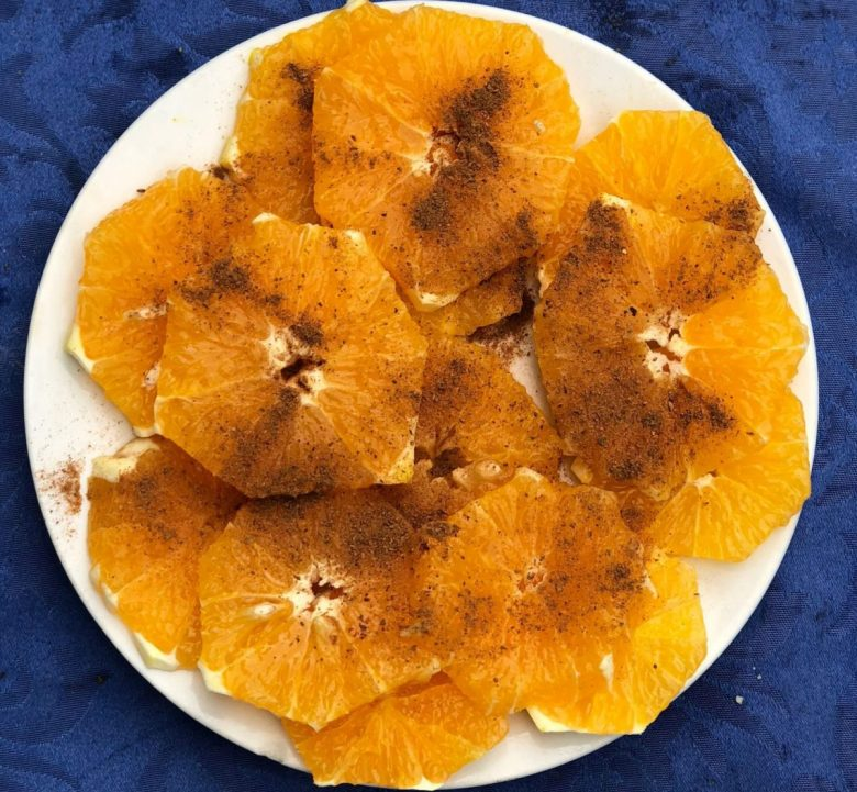 oranges and cinnamon - Morocco vegan dessert