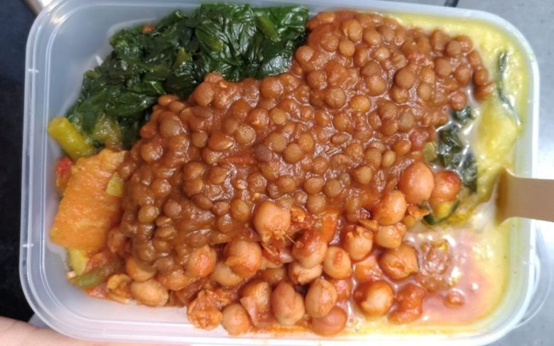 Ethiopian vegan food stall - food market London
