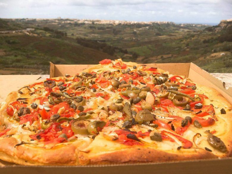 Ftira - vegan pizza Malta