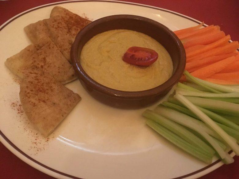 Hummus from Coogi's - vegan food Malta