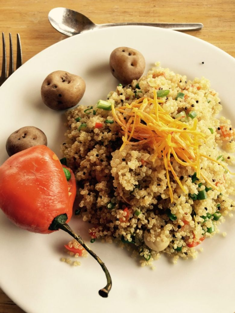 Couscous is one of the most popular vegan Peruvian dishes.