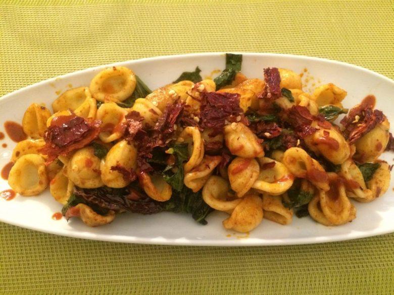 Orecchiette con cime di rapa - vegan Italian food