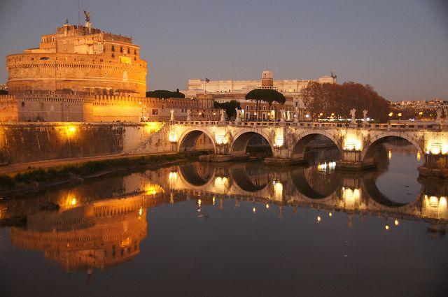 Rome at Dusk - vegan italy