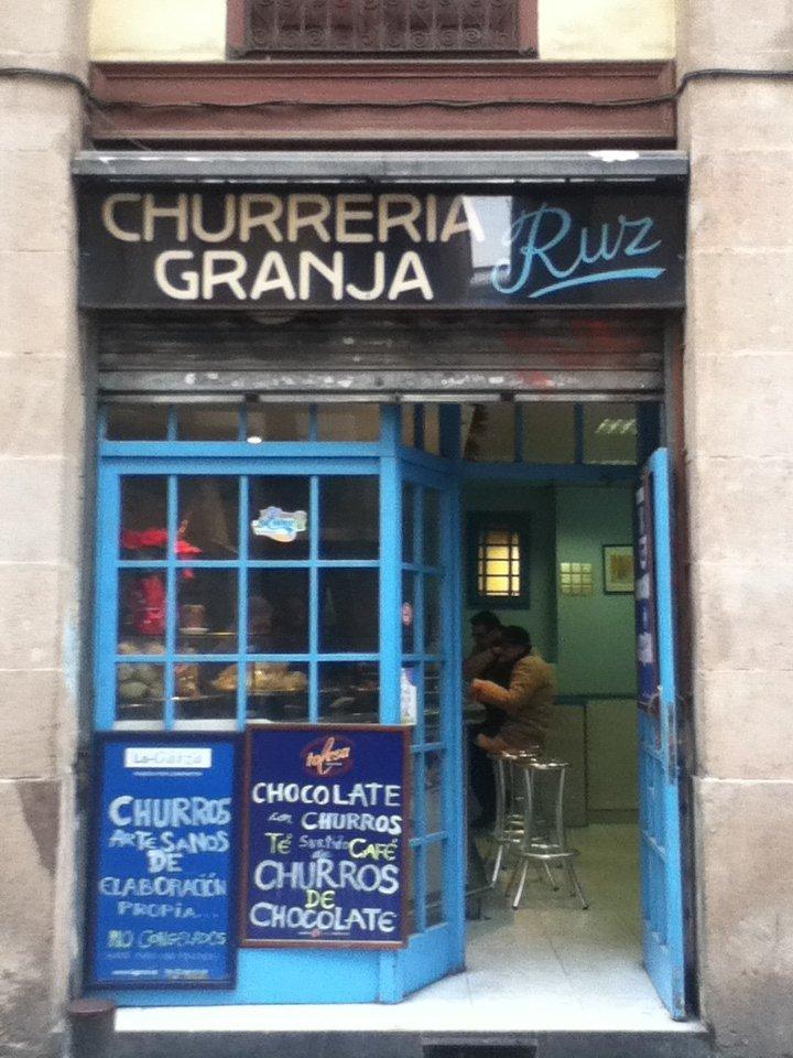 A typical churrería in Spain