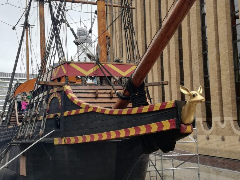 The Durmstrang Ship - another of the lesser-known Harry Potter places in London