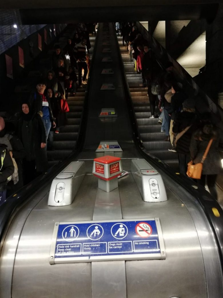 The escalator that scared the bejeebus out of Mr. Weasley