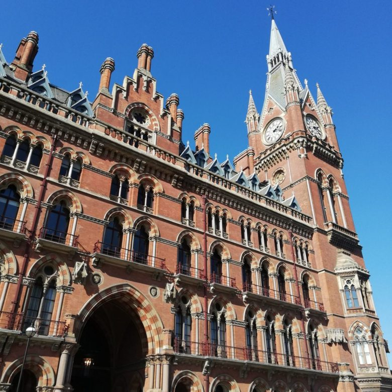 This is actually St. Pancras Renaissance Hotel but stood in as the façade of King's Cross Station