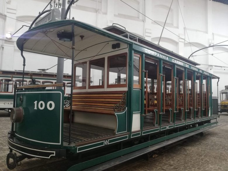 An old tramcar at the Museu do Carro Elétrico (Tram Museum)