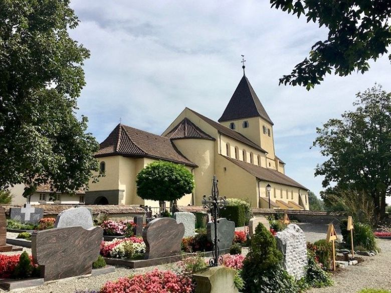 The monastery of Reichenau Island Lake Constance