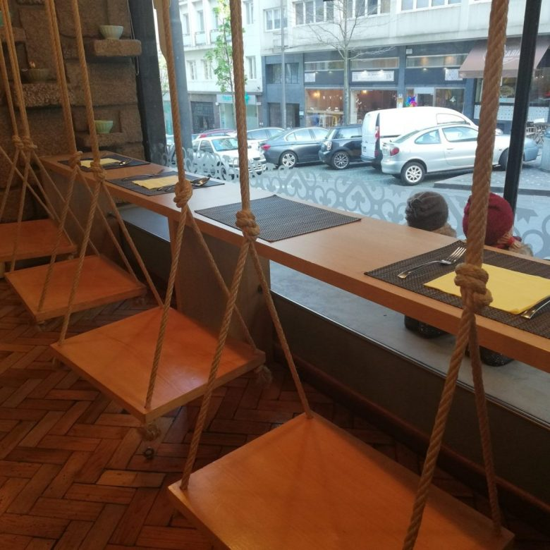 swings at Cultura dos Sabores restaurant