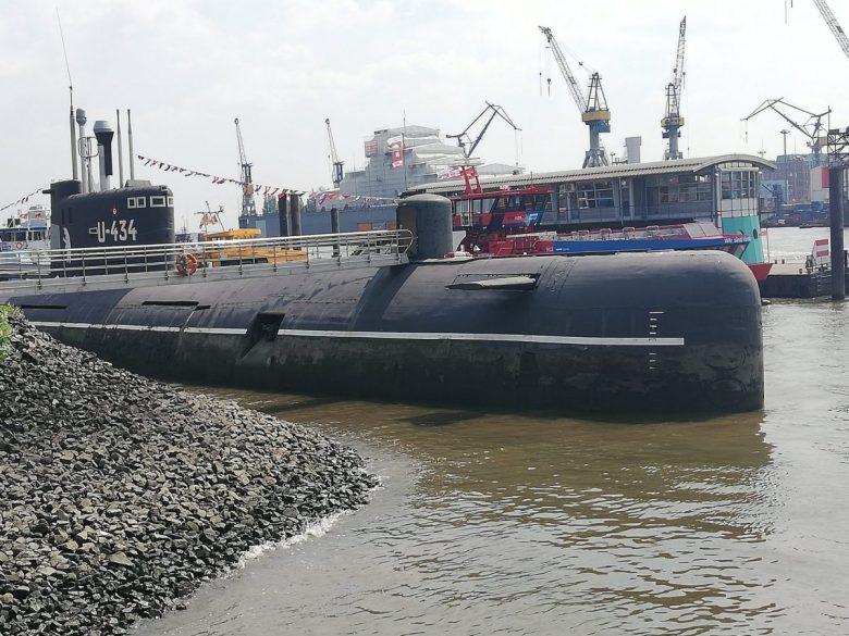 U-434 Submarine in Hamburg Germany