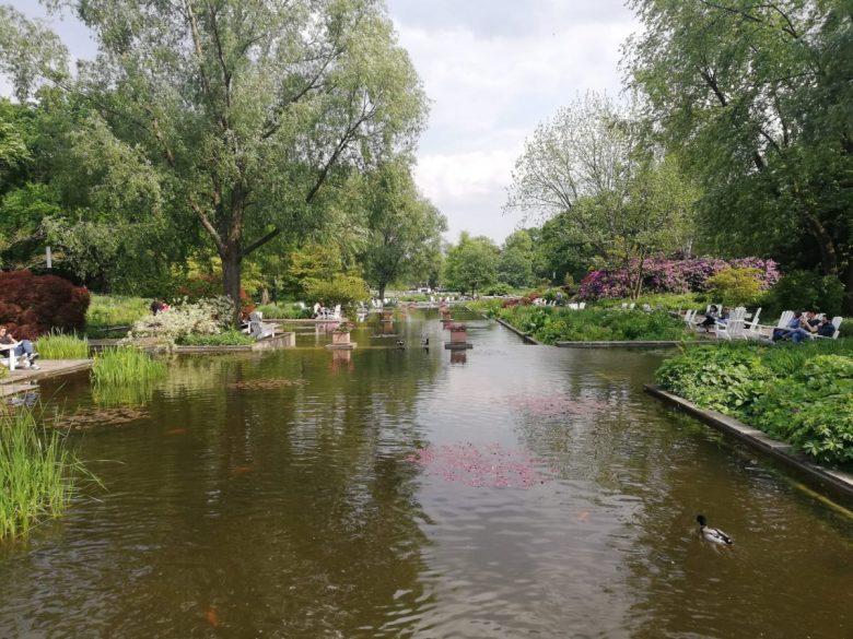 Planten un Blomen park in Hamburg